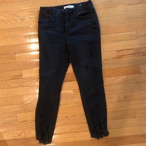 Kancan distressed black jean